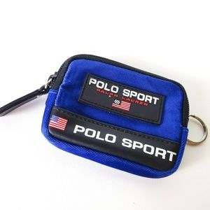 Ralph Lauren Polo Sport Key Chain Mini Wallet Zip